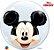 Balão Double Bubble Transparente Disney Mickey Mouse - 24'' 61cm - Qualatex - Rizzo festas - Imagem 1
