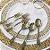 Prato Refeição Vazado Dourado - 6 un - 26 cm - Silver Festas - Imagem 2