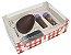 Caixa Kit Confeiteiro Xadrez Vermelho Cód 1479 - Meio Ovo de 150g - 10 unidades - Ideia Embalagens - Rizzo Embalagens - Imagem 1