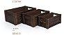 Caixote Madeira Marrom M - 1 unidade - 25cm x 16cm x 11cm - Cromus - Rizzo Festas - Imagem 2