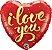 Balão Metalizado Coração I Love You - 18'' - 46cm - Qualatex - Rizzo festas - Imagem 1