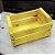 Mini Caixote Madeira - Amarelo 8x12cm - Rizzo Embalagens - Imagem 2