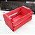 Mini Caixote Madeira - Vermelho 8x12cm - Rizzo Embalagens - Imagem 1