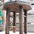 Mini Banquinho Madeira p Decoração Pati - Betume 17x17,5cm - Rizzo Embalagens - Imagem 2
