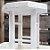 Mini Banquinho Madeira p Decoração Pati - Branco 17x17,5cm - Rizzo Embalagens - Imagem 3