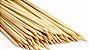 Palito de Madeira Para Churrasquinho - 50 Unidades - Rizzo Embalagens - Imagem 1