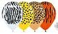 Balão de Festa Latex R12'' 30cm - Fashion Selva Sortido - 60 unidades - Sempertex Cromus - Rizzo Festas - Imagem 1