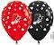 Balão de Festa Latex R12'' 30cm - Fashion Cassino Composê - 60 unidades - Sempertex Cromus - Rizzo Festas - Imagem 1