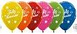 Balão de Festa Latex R12'' 30cm - Metal Feliz Aniversário Brilho Sortido - 60 unidades - Sempertex Cromus - Rizzo Festas - Imagem 1