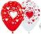 Balão de Festa Latex R12'' 30cm - Fashion Corações Composê - 60 unidades - Sempertex Cromus - Rizzo Festas - Imagem 1