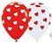Balão de Festa Latex R12'' 30cm - Fashion Corações Classic Composê - 60 unidades - Sempertex Cromus - Rizzo Festas - Imagem 1