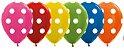 Balão de Festa Latex R12'' 30cm - Polka Dot Metal Sortido - 60 unidades - Sempertex Cromus - Rizzo Festas - Imagem 1