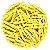 Mini Prendedor de Madeira Amarelo 3,5cm - 50 Unidades - Imagem 1