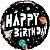 Balão Metalizado Aniversário Astronauta - 18'' 46cm - Qualatex - Rizzo festas - Imagem 1