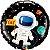 Balão Metalizado Aniversário Astronauta - 18'' 46cm - Qualatex - Rizzo festas - Imagem 2