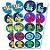 Adesivo Redondo para Lembrancinha Festa DPA Detetives do Prédio Azul - 30 unidades - Festcolor - Rizzo Festas - Imagem 1