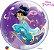Balão Bubble Transparente Princesa Jasmine da Disney - 22'' 56cm - Qualatex - Rizzo festas - Imagem 1