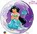 Balão Bubble Transparente Princesa Jasmine da Disney - 22'' 56cm - Qualatex - Rizzo festas - Imagem 2