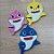 Aplique de EVA Baby Shark Pequeno com 3 unidades 8x6cm - Rizzo Embalagens - Imagem 1