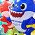 Balão Festa Baby Shark 18'' 45cm - Rizzo Embalagens - Imagem 4