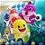Balão Festa Baby Shark 18'' 45cm - Rizzo Embalagens - Imagem 5
