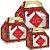 Caixa Maleta Kids com Visor Xadrez Natal 10 unidades - Natal Cromus - Rizzo Embalagens e Festas - Imagem 1