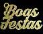 Tag de Decoração Boas Festas Glitter Dourado Sonho Fino Rizzo Embalagens - Imagem 1