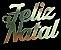 Tag de Decoração Feliz Natal Liso Dourado Sonho Fino Rizzo Embalagens - Imagem 1