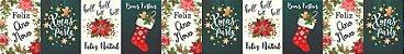 Cinta para Panetone G Feliz Natal e Ano Novo 03 unidades - Erika Melkot - Rizzo Embalagens - Imagem 1