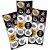 Adesivo Redondo para Lembrancinha Festa Corinthians - 30 unidades - Festcolor - Rizzo Embalagens e Festas - Imagem 1