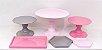 Kit Comemore 02 - Rosa, Rosa Candy e Cinza - Só Boleiras - Rizzo Festas - Imagem 1