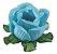 Forminha para Doces Finos - Rainha Azul Piscina - 40 unidades - Decora Doces - Rizzo Festas - Imagem 1