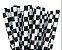 Canudo de Papel Quadriculado Preto - 20 unidades - ArtLille - Rizzo Festas - Imagem 1