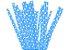 Canudo de Papel Poá Azul - 20 unidades - ArtLille - Rizzo Festas - Imagem 1