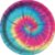 Prato de Papel Festa Tie Dye - 08 Unidades - Festcolor - Rizzo Festas - Imagem 1