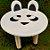 Decoração MDF Banco com Orelhas Panda - 01 unidade - Mara Móveis - Rizzo - Imagem 1
