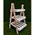 Decoração MDF Escada de Mesa Pinus Bandeja Ripada - 01 unidade - Mara Móveis - Rizzo - Imagem 1