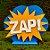 Decoração MDF Placa Zap - Amarelo e Branco - 01 Unidade - Mara Móveis - Rizzo - Imagem 1