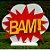 Decoração MDF  Placa Bam - Vermelho e Amarelo - 01 Unidade - Mara Móveis - Rizzo - Imagem 1