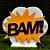 Decoração MDF  Placa Bam - Amarelo e Azul - 01 Unidade - Mara Móveis - Rizzo - Imagem 1