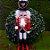 Boneco Soldado Quebra Nozes de Madeira EN009-27 - 30cm - 1 unidade - Global Master - Rizzo - Imagem 1