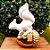Esquilo decorativo 13cm - 01 unidade - Cromus Natal - Rizzo - Imagem 1