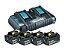 Kit Carregador de Bateria Duplo 18V 6A DC18R e 4 Baterias 18V (LXT) - 198089-1 - Makita - Imagem 1