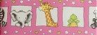 Papel de parede Ola Baby Faixinha Rosa com Animais FA-83702B - Imagem 1