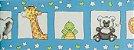 Papel de parede Ola Baby Azul Com Animais FA-83701B - Imagem 1