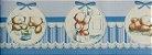 Papel de parede Ola Baby Faixinha Tons de Azul com Ursinhos FA-38403B - Imagem 1