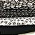 Kit de tricoline Caveiras branca fundo preto/ branca fundo preto (10 Unidades) 50 x 70 cm 100%Algodão - Imagem 1