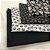 Kit de tricoline Caveiras branca fundo preto/ branca fundo preto (20 Unidades) 50x70cm cada 100%Algodão - Imagem 1