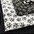Kit de tricoline Caveiras branca fundo preto/ branca fundo preto (15 Unidades) 50x70cm cada 100%Algodão - Imagem 3