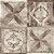Papel de Parede Stone Age 2 - Ladrilho Medalhão Marrom - SN603801R - Imagem 1